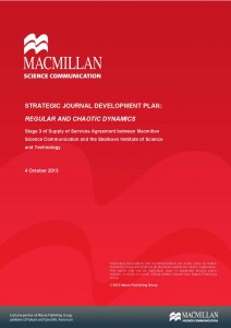 Strategic journal development plan